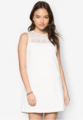 透膚蕾京站 esprit絲拼接直筒洋裝, 服飾, 洋裝