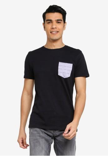 BLEND black Printed Pocket Crew Neck T-Shirt DF7E1AA143CFEAGS_1