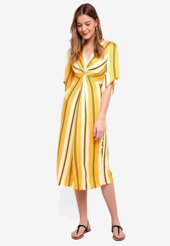 River Island yellow Betty Waisted Midi Dress 6FD0CAA3EB75D6GS_1