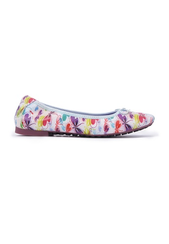Flatss & Heelss by Rad Russel white Dragonfly Patterned Flats - White 2D3CASH9D3BE1EGS_1