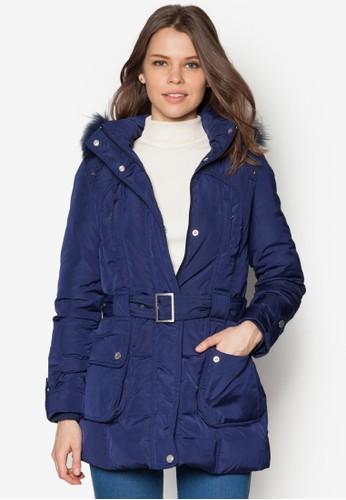 皮草連帽羽絨風衣外套, 服飾, esprit tote bag夾克 & 大衣