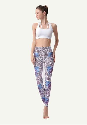 B-Code multi ZYG5036A-Lady Quick Drying Running Fitness Yoga Sports Leggings-Multi 8FF19AAC96CB27GS_1
