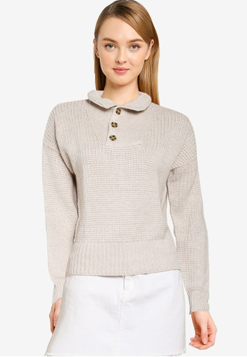 GAP white Half Button Pullover B3967AAFFC106AGS_1
