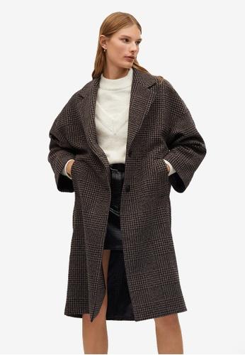 Mango brown Oversize Wool Coat 5F8DEAACBD71C3GS_1