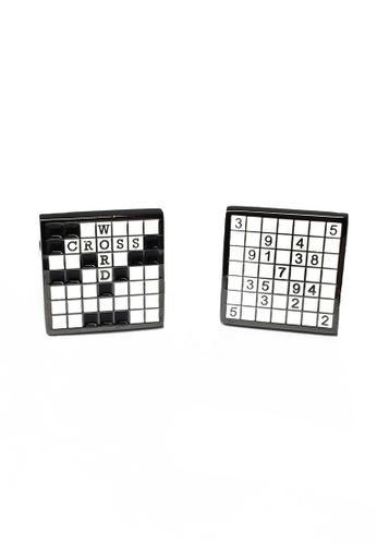 Splice Cufflinks Crossword & Sudoko Puzzle Cufflinks SP744AC49ETASG_1