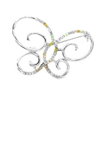 Glamorousky multi Butterfly Brooch with Multi-color Austrian Element Crystals A54EAAC15AC05FGS_1