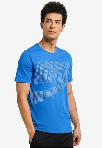 Nike grey and blue Men's Nike Sportswear T-Shirt 6BC00AAD1B6EE3GS_1