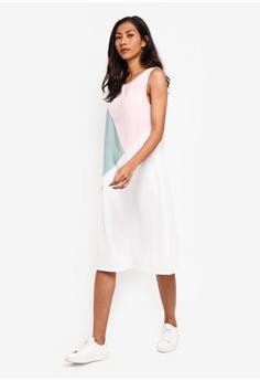 2421e0afdb4e0 ZALORA BASICS Basic Triangle Colourblock Dress S$ 39.90. Sizes XS S M L XL