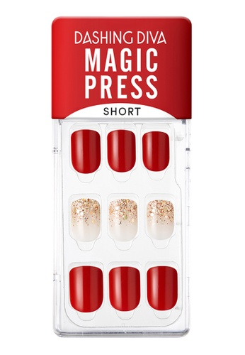 Dashing Diva red Dashing Diva 1 SEC. MAGIC PRESS Manicure(Short Size) About Joy / Press on Nails /Nail Tips 5FD0ABECF6C4B2GS_1