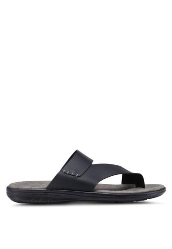 Bata black Slide-On Sandals A2641SH3D68ECBGS_1