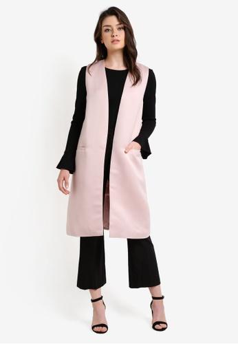 Zalia pink Midi Vest 60147AA8FA81CAGS_1