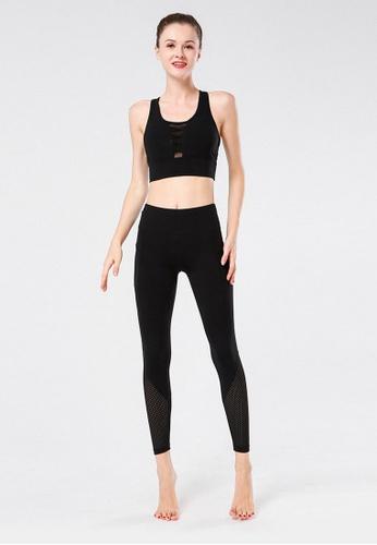 B-Code black ZYG3025-Lady Quick Drying Running Fitness Yoga Sports Bra -Black 7F661US04CEA24GS_1