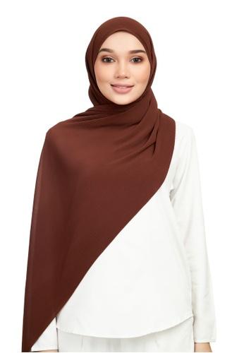 DONNINGDONNA brown Euphoria Pleats - Cocoa Shawl 87D00AAF98637FGS_1