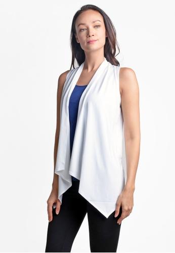 ViQ white ViQ Asymmetrical Vest 0BCCAAAA688425GS_1