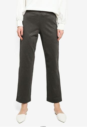 Gene Martino grey Straight Cut Pants 7EC9EAA7BC1E67GS_1