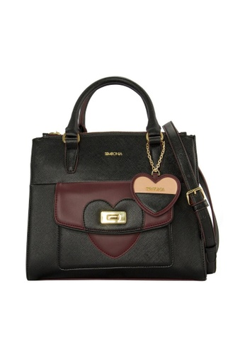 SEMBONIA black SEMBONIA Synthetic Leather Satchel Bag SE598AC0RHVUMY_1