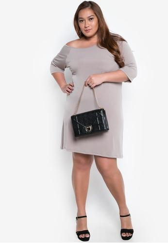 d134d5250bb Shop Maldita X Erin Plus Size Off Shoulder Dress Online on ZALORA  Philippines
