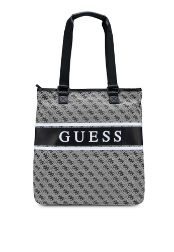 Guess black and grey and multi Represent Tote Bag 1B5A4AC55F97CCGS_1