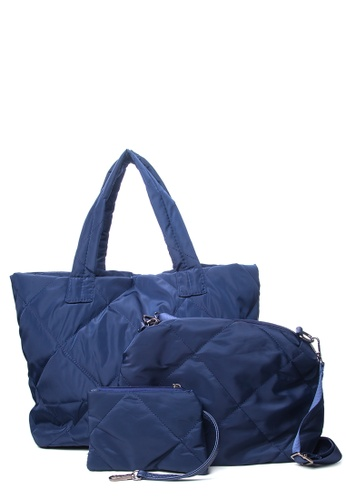 Dazz blue Large Nylon Tote (3 in 1) - Blue DA408AC99EUIMY_1