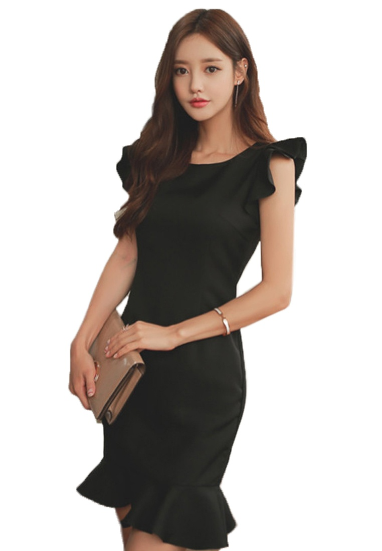 New One Black Dress UA061926 Piece 2018 Mermaid Black Sunnydaysweety 6RqUAFWw