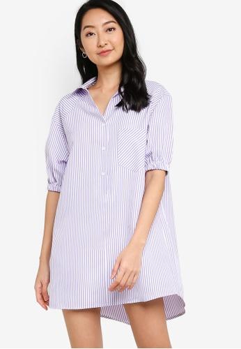 ZALORA BASICS multi Oversized Shirt Dress 1DBCEAA937435BGS_1