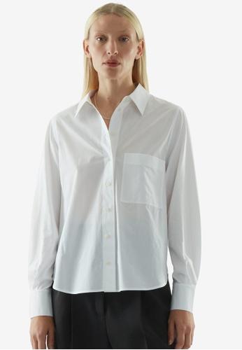 COS white Cotton Boyfriend Shirt 4547FAAB25014CGS_1