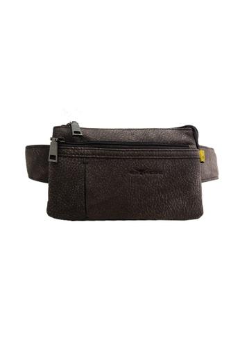 EXTREME brown Extreme Genuine Leather Waist Bag 635D4AC5B3B094GS_1