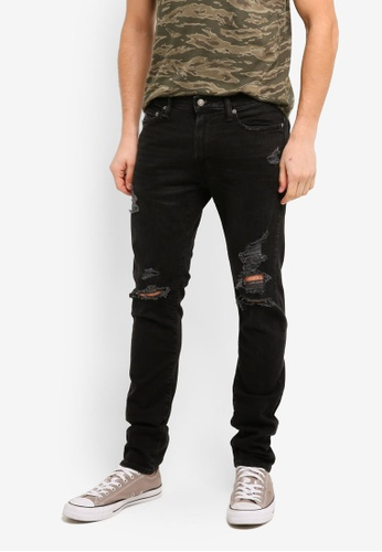 Abercrombie & Fitch black Super Slim Destroyed Jeans 1067CAAAFECA3FGS_1