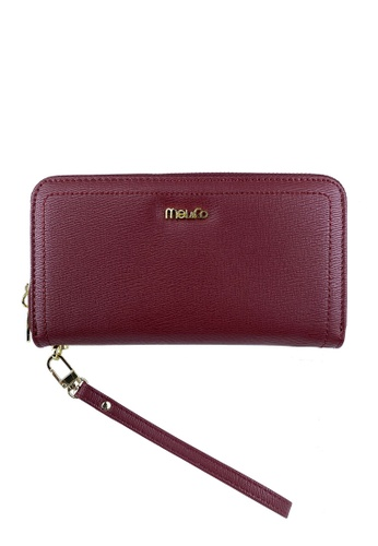 Mel&Co red Zip Around Long Wallet Clutch EFA57ACC9B47D2GS_1