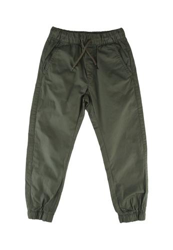 OVS green Poplin Jogger Pants A899DKA56E057BGS_1