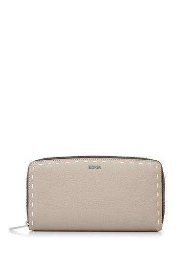 BONIA Medium Grey Bianca Zipper Wallet BO777AC28CNJMY_1