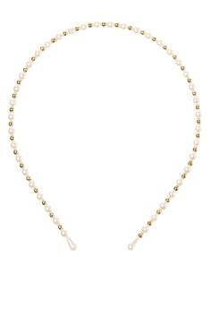 Pearl w/ Gold Headband