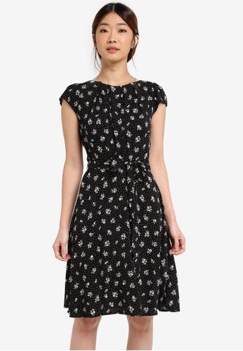 Dorothy Perkins black Black Printed Dress DO816AA0T05BMY_1