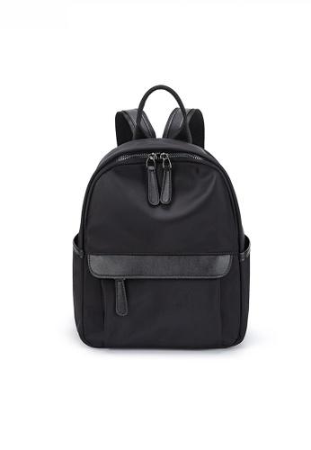 Twenty Eight Shoes black Modish Nylon Oxford Two-Way Backpack JW CL-C9066-5 317D6AC0374457GS_1