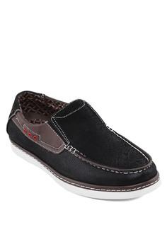 撞色拼接船型鞋