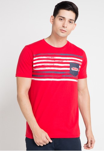 SHARKS red Short Sleeve T-Shirt SH473AA0WP0VID_1