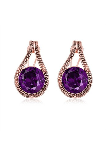 Tiaria pink Tiaria Earrings Aksesoris Anting Lapis Emas AKE082--K10 35E75AC2DF1BE6GS_1