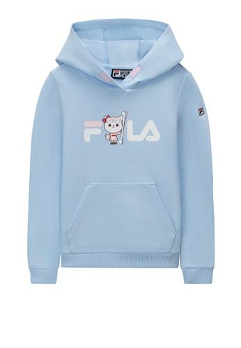 FILA blue FILA KIDS FILA x WONNIE FRIENDS Logo Hoodie 6-9yrs 8586CKA932B824GS_1