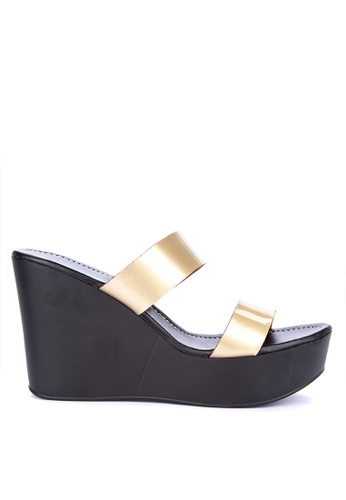 8375ff461e5 Shop Ashley Collection Two Strap Slip On Wedges Online on ZALORA ...