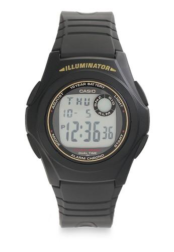 Casio black Unisex Digital Watches F-200W-9ASDF CA347AC0UJLDID_1