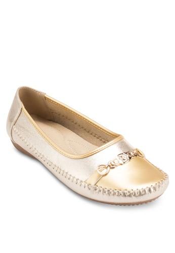 金飾休閒平底鞋, esprit台灣女鞋, 鞋