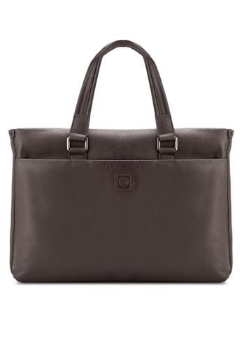 Volkswagen brown Volkswagen Genuine Leather Satchel Bag VO089AC36EIHMY_1