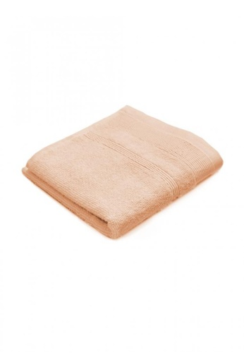Primeo pink and orange Premium Double Pile Peach Face Towel 540gsm Soft High Absorbent 7BC7DHLE67B297GS_1