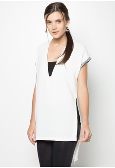 Short Sleeves Long Blouse