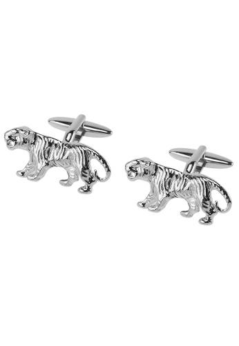 CUFF IT silver Tiger Cufflinks CU047AC2UQQ2HK_1