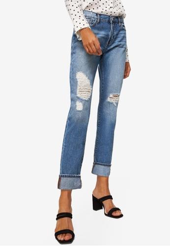 Mango blue Vintage Relaxed Jeans 7C0E8AA0D8654DGS_1