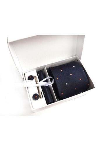 Kings Collection blue Blue Tie, Pocket Square, Cufflinks, Tie Clip 4 Pieces Gift Set (KCBT2041) 79CFFAC20E3D56GS_1