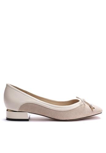 Twenty Eight Shoes 小方頭猄布小踭鞋 6637-3 2AAB3SHFCAFA06GS_1