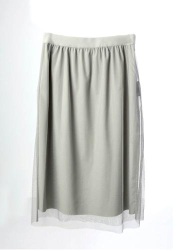 Giordano Ladies grey Tulle Layering Reversible Skirt 60D98AA08C729BGS_1