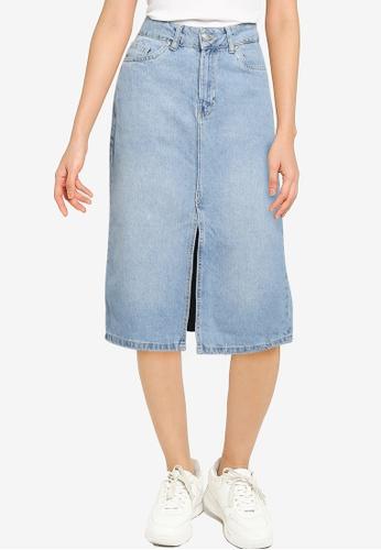 KOTON blue Casual Skirts 72E35AAAEF5D22GS_1